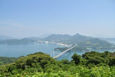 カレイ山から見渡すしまなみ海道の絶景