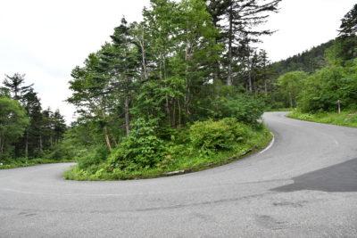 急勾配のタイトコーナーが連続する11kmすぎ