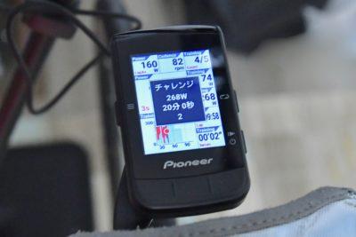 パイオニア新型GPSサイクルコンピューター「SGX-CA600」FTP計測 チャレンジ