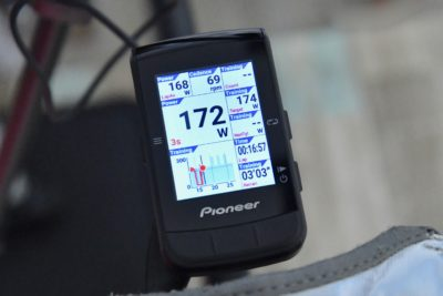 パイオニア新型GPSサイクルコンピューター「SGX-CA600」FTP計測 タスクごとの経過時間と残り時間を表示してくれる