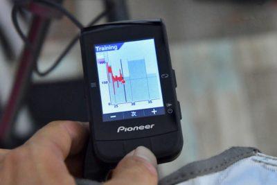 パイオニア新型GPSサイクルコンピューター「SGX-CA600」FTP計測 メニューのグラフィック化