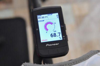 パイオニア新型GPSサイクルコンピューター「SGX-CA600」グラフィック化されたインテンシティ機能