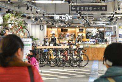 JR土浦駅直結のプレイアトレ土浦は、まさにサイクリスト天国