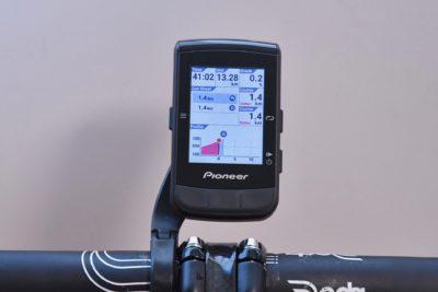 パイオニア新型GPSサイクルコンピューター「SGX-CA600」スマートトレーナーコントロール機能 現在の勾配やゴールまでの残り距離を表示させておきたい