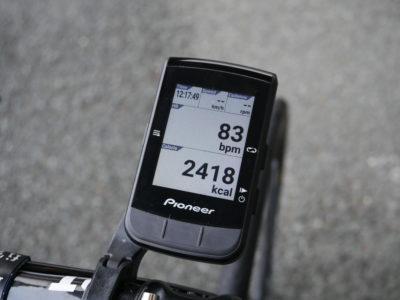パイオニアSGX-CA600の心拍数と消費カロリーの表示画面