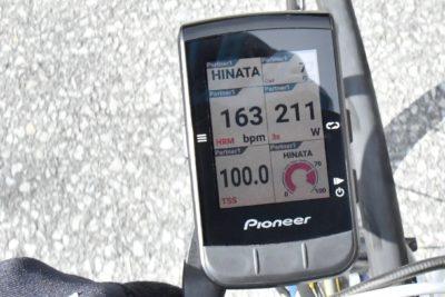 パイオニア新型GPSサイクルコンピューター「SGX-CA600」ライブパートナー機能を使ってみた 画面左上からパートナーの名前、ケイデンス、心拍数、パワー、TSS、インテンシティ