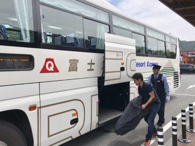 富士急行バスは、富士山方面へ向かうバスの中で唯一輪行することができる