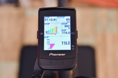 パイオニア新型GPSサイクルコンピューター「SGX-CA600」のTSSの表示画面