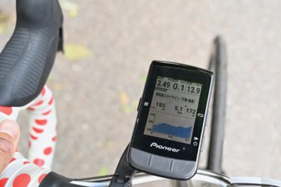 パイオニア新型GPSサイクルコンピューター「SGX-CA600」ひとつのセグメントが終わった後、次のセグメントに入ると再びセグメントが開始される
