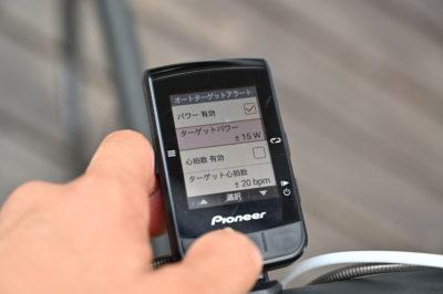 パイオニア新型GPSサイクルコンピューター「SGX-CA600」ヒルクライムレースで有効なオートターゲットアラート機能