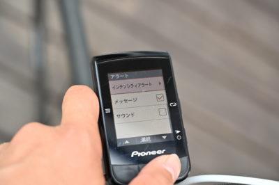 パイオニア新型GPSサイクルコンピューター「SGX-CA600」メッセージ表示、サウンドアラート表示をカスタマイズできる
