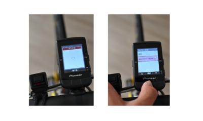 パイオニア新型GPSサイクルコンピューター「SGX-CA600」ANT+対応ライトとのペアリング画面