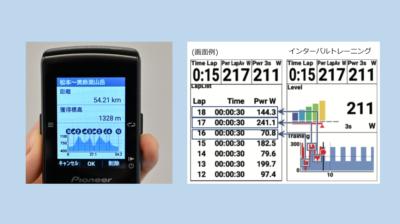 コースの獲得標高の自動算出機能と、ログ中のラップリスト表示機能が追加された